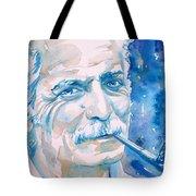 Georges Brassens - Watercolor Portrait Tote Bag
