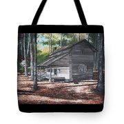 Georgia Cabin In The Woods Tote Bag