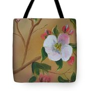 Georgia Flowers - Apple Blossoms- Stretched Tote Bag