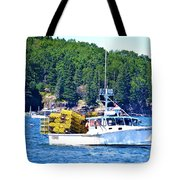 Georgia Madison Lobster Boat Tote Bag