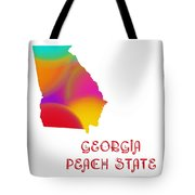 Georgia State Map Collection 2 Tote Bag