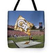 Georgia Tech Touchdown Celebration At Uva Tote Bag