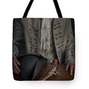 Georgian Man With Tricorne Hat And Flintlock Pistol Tote Bag