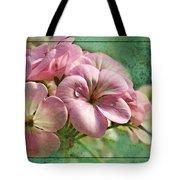 Geranium Blossoms Photoart Tote Bag