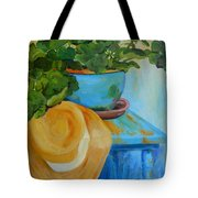 Geraniums And A Hat Tote Bag