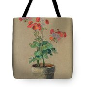 Geraniums In A Pot  Tote Bag