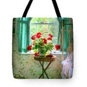 Geraniums In The Bedroom Tote Bag