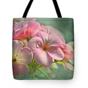 Geraniums With Texture Tote Bag