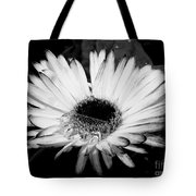 Gerbera In Black And White Tote Bag