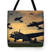 German Heinkel Bombers Taking Tote Bag