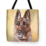 German Shepard Portrait Lala Tote Bag