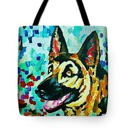 German Shepard Watercolor Tote Bag