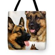 German Shepherd Collage Tote Bag