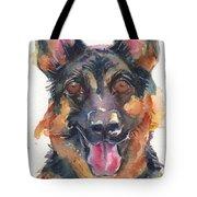 German Shepherd Watercolor Tote Bag