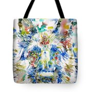 German Shepherd - Watercolor Portrait Tote Bag