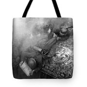 German Soldiers Launch A Suprise Attack On Bunker 17. Tote Bag