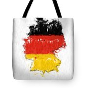 Germany Painted Flag Map Tote Bag