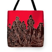 Geronimo And Family Surrendering Collage Number 1 C.s. Fly 1887-2012 Tote Bag
