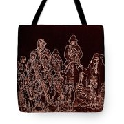 Geronimo And Family Surrendering Collage Number 2 C.s. Fly 1887-2012 Tote Bag