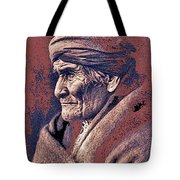 Geronimo  Photographed By Edward S. Curtis  1903-2013 Tote Bag