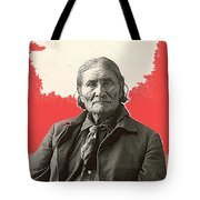 Geronimo Portrait R. Rinehart Photo Omaha Nebraska 1898-2013 Tote Bag
