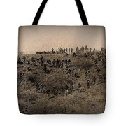 Geronimo's Band Of Warriors When He Surrendered To General Crook  September 4 1886 Tote Bag
