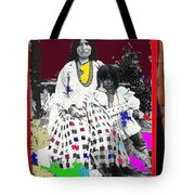 Geronimo's Wife Ta-ayz-slath And Child Unknown Date Collage 2012 Tote Bag
