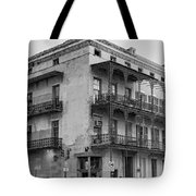 Gettin' By In New Orleans Bw Tote Bag