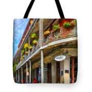 Getting Around The French Quarter - Watercolor Tote Bag