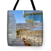 Getty Center Tram Waiting Area Brentwood  Ca Tote Bag