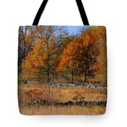Gettysburg At Rest - Autumn Looking Towards The J. Weikert Farm Tote Bag