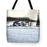 Gettysburg Farm In The Snow Tote Bag