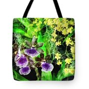 Geyser Jaimie And Golden Fantasy Orchids Tote Bag