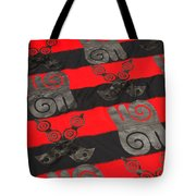 Ghana In Red And Black Tote Bag