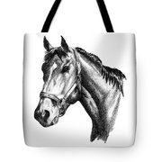 Ghazibella Thoroughbred Racehorse Filly Tote Bag