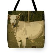 Ghost Cow 2 Tote Bag