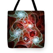 Ghost Flames Tote Bag