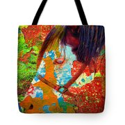 Ghost Horse Tote Bag by Skip Hunt