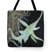 Ghost Orchid On A Palm Tree Tote Bag