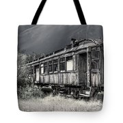 Ghost Passenger Train Coach Tote Bag