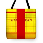 Ghost Station In Red And Yellow Tote Bag