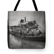 Ghost Steamer In Bw Tote Bag