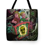 Ghost Train Fun Fair Kids Tote Bag by Martin Davey