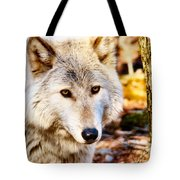 Ghost Wolf Tote Bag