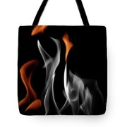 Ghostly Flames Tote Bag