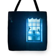 Ghostly Person At A Window Tote Bag