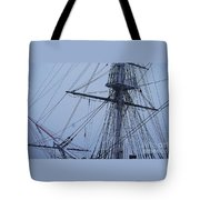 Ghostly Rigging In Snow Tote Bag