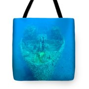 Ghostly Ship Wreck Tote Bag