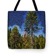Giant Abstract Tree Tote Bag