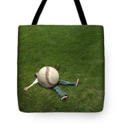 Giant Baseball Tote Bag by Diane Diederich
